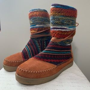 TOMS Women's Nepal Multi-Color Ankle Boot